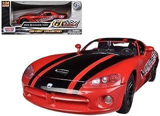 Motormax USA 1:24 GT Racing 2003 Dodge Viper Srt-10 Diecast Model - 3 Years   Above