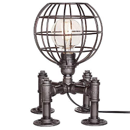 Sombrero de la lámpara de escritorio luz del escritorio - Caño de agua industria de los robots lámpara for la mesa de luz Steampunk Loft retro Do Antiguo Personalidad Creativa