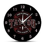 Wjlytf Ink Shop Tattoos Gun Artista Reloj de Pared Tattoo Time Body Art Shop Studio Logo Reloj de...