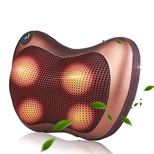 Kampre Appareil de massage infrarouge pour le dos de la colonne cervicale de voiture, coussin de massage pour la nuque, coussin de massage pour le cou
