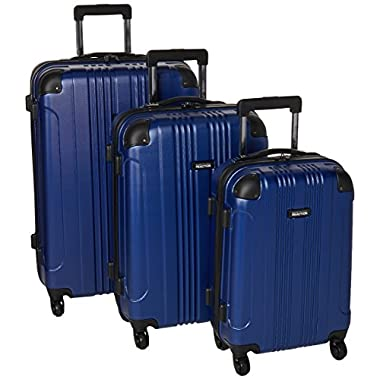 Kenneth Cole Reaction Out of Bounds Luggage 4-Wheel Abs 3-Piece Nested Set: 20  Carry-on, 24  28  Upright, Cobalt Blue