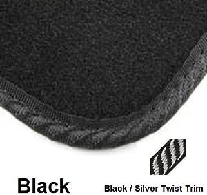 Poly Tailored Black Car Mats Corsa  MK 2015 CURRENT piece New Black Silver Twist Mat Trim 1144 F