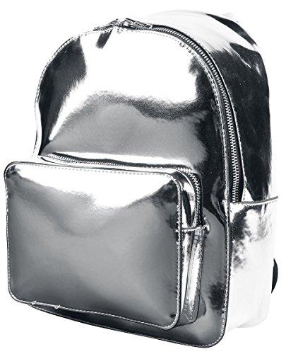 Urban Classics Midi Metallic Backpack Rucksack, 28 cm, 8 L, Silver