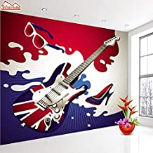 Shinehome-Custom Guitar Photo Wallpapers 3D Wall Paper 3D Modern Living Room Wall Murals Washable Wallpaper Boys Children (Embossed Material, Photo Wallpaper)