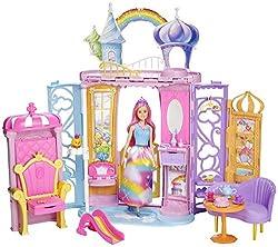 Mattel Barbie - Dreamtopia Regenbogen-Königreich Schloss und Puppe