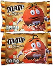 M&Ms Chocolate Candies 8 Oz Pack Of 2! White Pumpkin Pie Chocolate Candy Flavor! Delicious Crunchy Chocolate Candy! Perfect For Halloween Candy Treat!