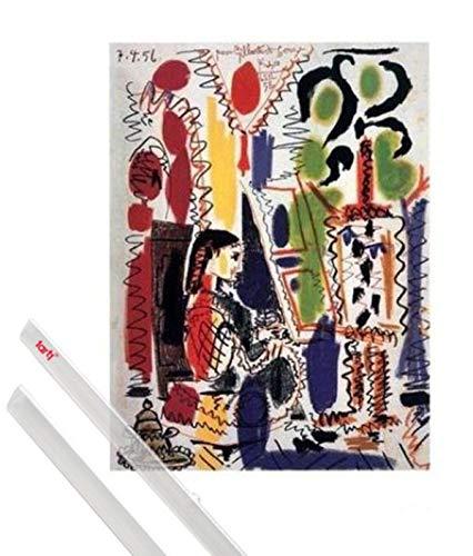1art1 Pablo Picasso Kunstdruck (50x40 cm) L'atelier À Cannes Inklusive EIN Paar Posterleisten, Transparent