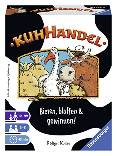 Ravensburger 20753 - Kuhhandel, Auktionsspiel für 3-5 Spieler, Kartenspiel ab 10 Jahren