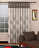 Home Utsav 1 Piece Jute Blackout Heavy Curtains for Door 7 Feet, Brown