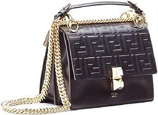 Women's Kan I Logo Small Leather Shoulder Bag Black