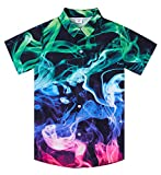 uideazone Summer Short Sleeve Shirts for Teens Big Boys 3D Printed Colorful...