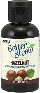 NOW Foods, Better Stevia Liquid, Hazelnut, Zero-Calorie Liquid Sweetener, Low Glycemic Impact, Certified Non-GMO, 2-Ounce
