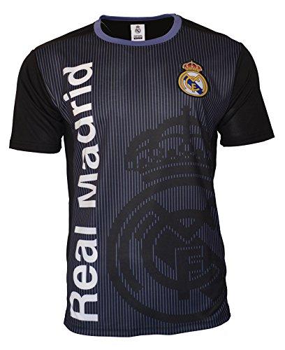 Icon Sports Group Men Real Madrid C.F Stadium Class Poly Shirt Jersey – Black (M, NO Name DD1G-03)