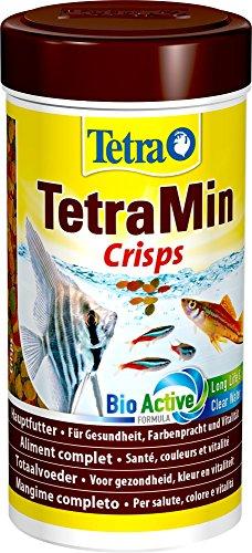 TetraMin Crisps Hauptfutter für alle tropischen Zierfische mit hohem Nährwert und minimaler Wasserbelastung, 250 ml