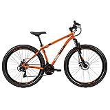 Bicicleta Mtb Caloi Two Niner Alloy Aro 29 - Susp Dianteira - Quadro Alumínio - Shimano - 21 Velocidades - Freio a Disco - Laranja