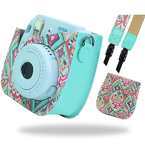 Katia Camera Funda para cámara instantánea Fujifilm Instax Mini 9 - Pfau, también para Fujifilm INSTAX Mini 8 Instant Camera, con funda de película