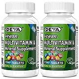 Deva Vegan Multivitamin & Mineral Supplement, Tiny Tablets, Easy to...