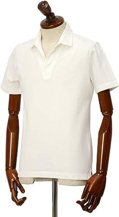 [Altea【アルテア】]スキッパーポロシャツ 1955103 29 コットン ピケ ホワイト