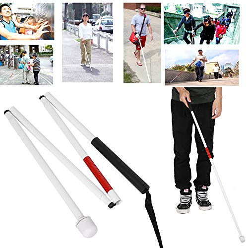 Walking Stick, Aluminum Alloy Folding Cane Walking Stick 127cm 4-Sections For The Blind