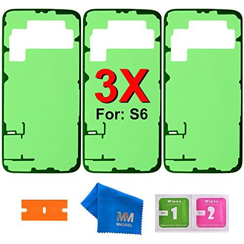 MMOBIEL 3 x Batterie Rückseite Cover Passgenaue Klebe Sticker kompatibel mit Samsung Galaxy S6 G920 Series