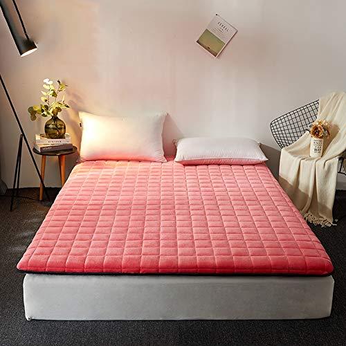 Flanella Materasso Tatami, Giapponese Pieghevole Futon Topper Materasso Traspirante Tatami per Dormire Bed Ground per Camera da Letto Dormitorio-Rosso 120x190cm(47x75inch) 120x190cm(47x75inch)