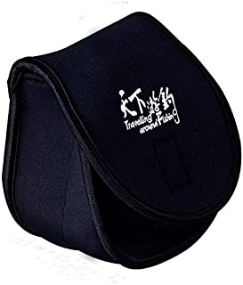 LUREMASTER Black Polyester Spinning Fishing Reel Bag Reel Case Protective Cover Pouch Storage Portable Bag
