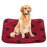Smandy Almohadillas para Perros, Estera Impermeable para la orina Orina de la Cama Estera Reutilizable para el Entrenamiento del Perro Estera de alimentación Lavable Alfombra de Whelping(Red X)