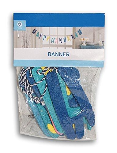 Happy Hanukkah Colorful Felt Banner