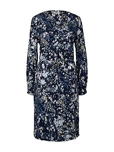 TOM TAILOR Damen 1024820 Feminine Kleid, 26408-Navy Bigger Flower Design, 46