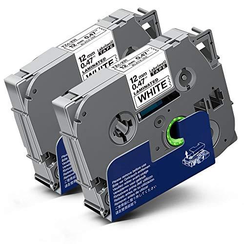 2x Labelwell 0.47 12mm x 8m White Kompatibel Schriftband Ersatz für Brother Tz Tzc Tze-231 Tze231 Schwarz auf Weiß für Brother P-Touch Cube Plus PT-1000 PTD400VP PTH105 D210VP H110 D600VP H107B H100LB