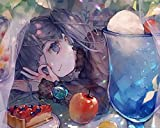 Pintar por números - Chica anime de dibujos animados - Lienzo de lino Pintura al óleo Pintura de arte moderno - Kit de pintura de bricolaje adecuado para adultos y principiantes - 40x50cm - Sin marco