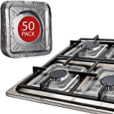"""Gas Stove Burner Liners by Linda's Essentials (50 Pack) 