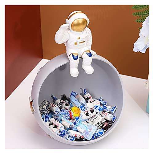 Key Bowl Coffee Table Decoración Astronauta Moderna mesa de centro de la mesa, estilo de la llave de estilo for la mesa de entrada, organizador de joyería Traiga Teléfono Teléfono Moneda Reloj Bandeja