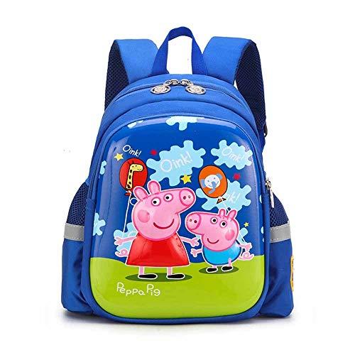 ERHU-ChildrenBackpack Mochila de Peppa Pig-George para niños, Mochila Infantil de Dibujos Animados,...