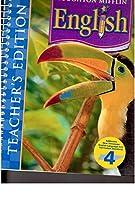 English-Grade 4 Teachers Edition (Houghton Mifflin) 0618611282 Book Cover