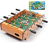 JHSHENGSHI Mesa de futbolín Mediana para Mayores de 3 años, Juegos de Mesa Arcade para niños, Juego de Mesa Compacto con 6 Varillas, Juego de diversión Familiar