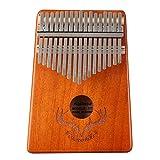 Kalimba 17 Teclas Thumb Piano,Pulgar Piano portátil Mbira Sanza Africano Madera Dedo Pulgar Piano,Música Finger piano Kalimbas para Niños Principiantes Adultos Cumpleaños Idea de Navidad (D)