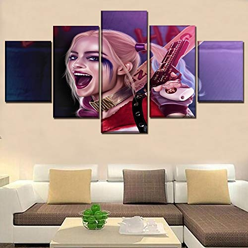 yiyitop 5 Grabados de Harley Quinn Margot Robbie