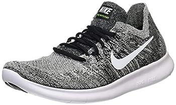 Nike Men s Free RN Flyknit 2017 Running Shoes-Black/White-8.5