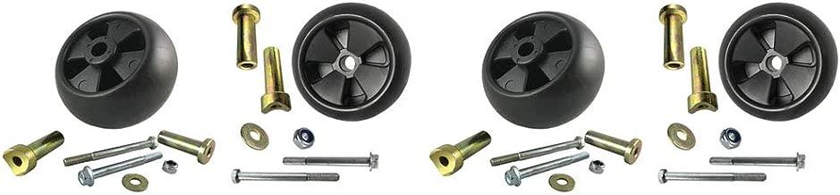 Parts 4 Outdoor 4 USA Made Deck Wheel+6 Piece Hardware Kits for John Deere AM133602 AM116299 M111489