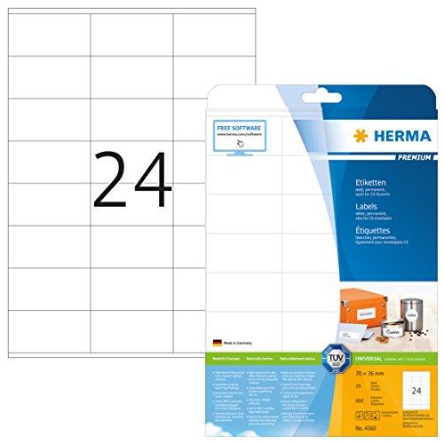 HERMA HERMA 4360 Adressaufkleber DIN A4 Bild