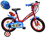 Eden-Bikes - Bicicleta Infantil de 14 Pulgadas con 2 Frenos PB/BIDON AR + Casco de Bicicleta Infantil, Multicolor, 14 Pulgadas