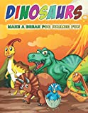 Dinosaurs Make a Break for Summer Fun: Great Coloring Book Gift for Boys and Girls, Ages 3-6 ,as Jurassic Era Comes Alive.: Have Fun Adventures with ... Brachiosaurus, Pteranodon, and Ankylosaurus