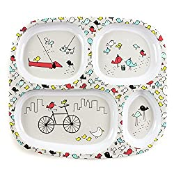 Bumkins Melamine Divided Toddler Plate Baby Plate 2018