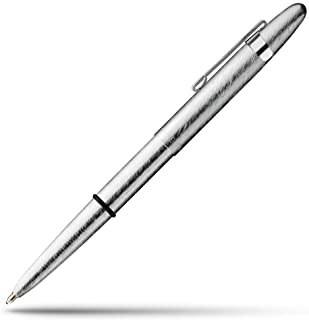 Brushed Chrome Space Pen with Matching Clip