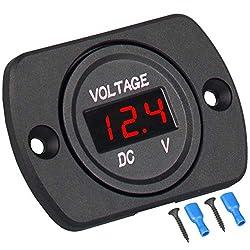 top 10 lowes voltage meter Linkstyle DC 12V 24V car voltmeter, LED digital display, waterproof voltmeter …