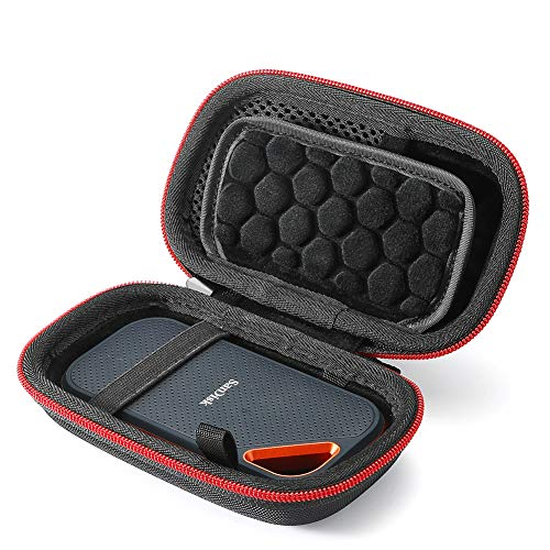 Hard Case für SanDisk Extreme PRO 1 TB / 2 TB / 250 GB / 500 GB Extreme Tragbare SSD, Tragetasche - Schwarz (schwarzes Futter) (nur Etui)