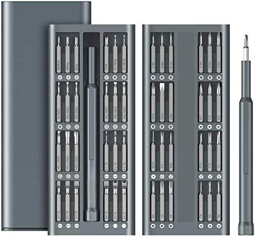 Precision Screwdriver Set, 49 in 1 Electronics Repair Tool Kit, Aluminum Handle S2 Tool Steel Driver Bit, Portable Tool Kit for Mobile Phone, Electronics, Household DIY Repair