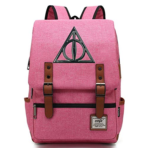 Harry P Teenager School Hogwarts Backpack, Fits 15'' Laptop Tablet, Water Resistent Handy Durable L-16inch Type-20