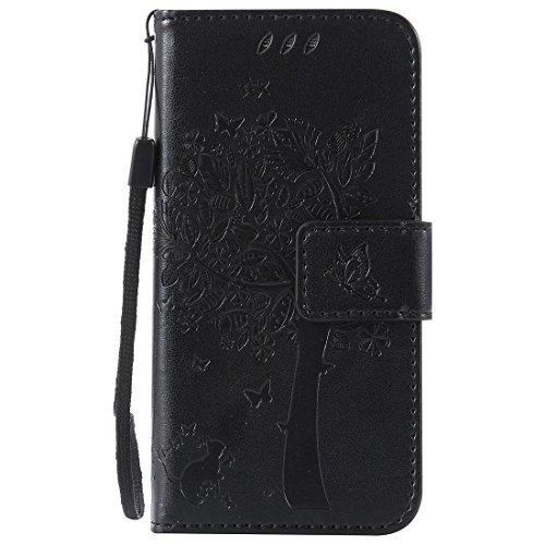 Nancen Funda tipo libro de piel sintética con carcasa de silicona, función atril, tarjetero y cierre magnético para Huawei Y5 2 (5 pulgadas)